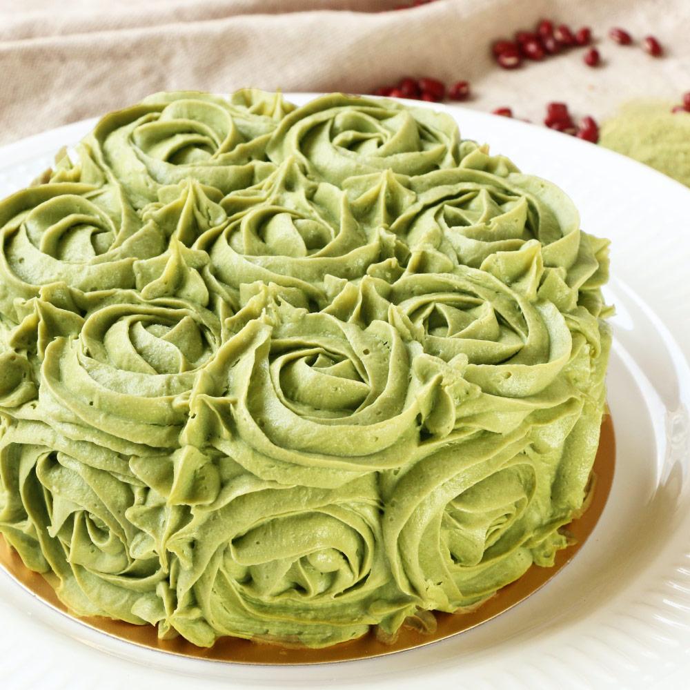 抹茶紅豆蛋糕(6吋)