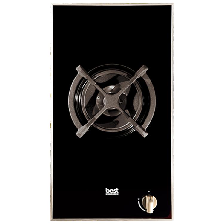 黑玻+不鏽鋼框單口高效能瓦斯爐GH2901-1