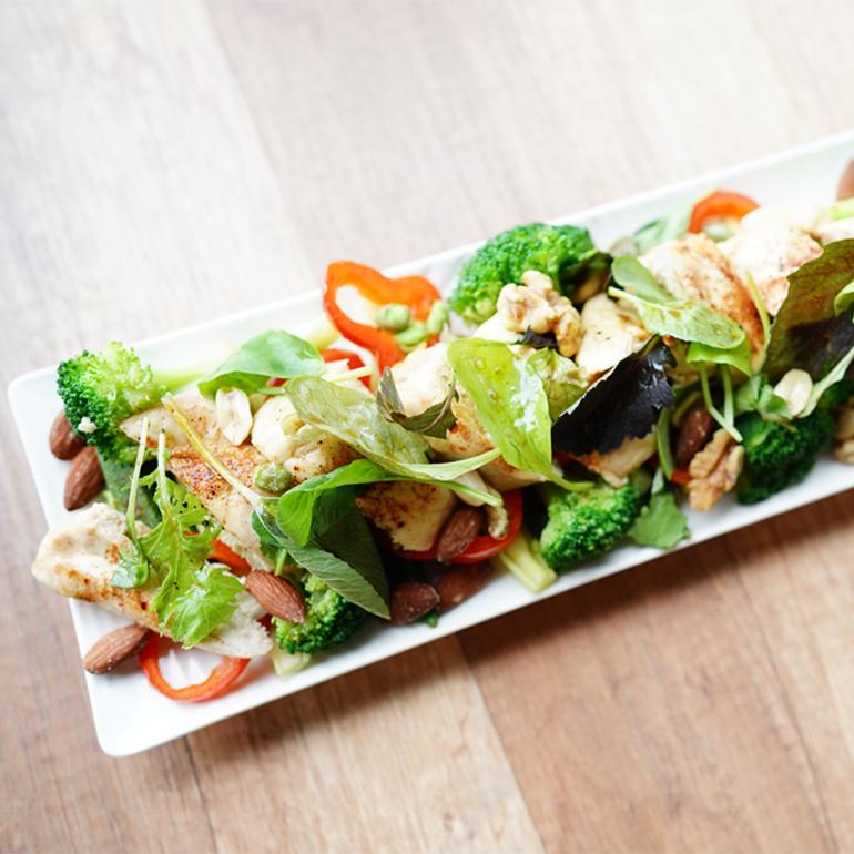 【 蒸烤爐食譜 】紐奧良烤雞沙拉