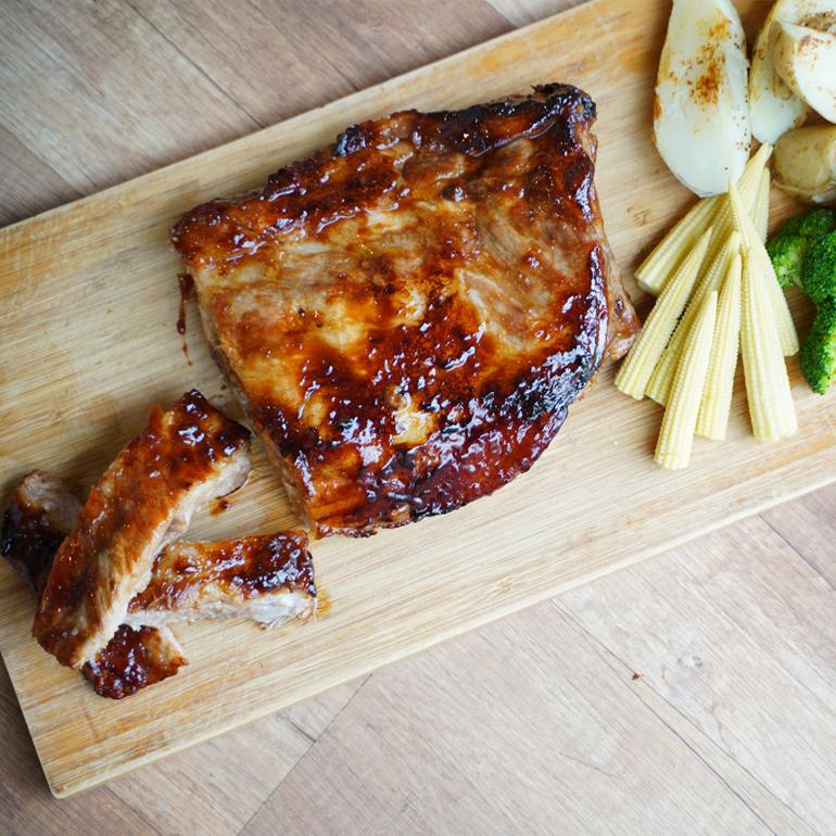 【 烤箱食譜 】爐烤美式豬肋排