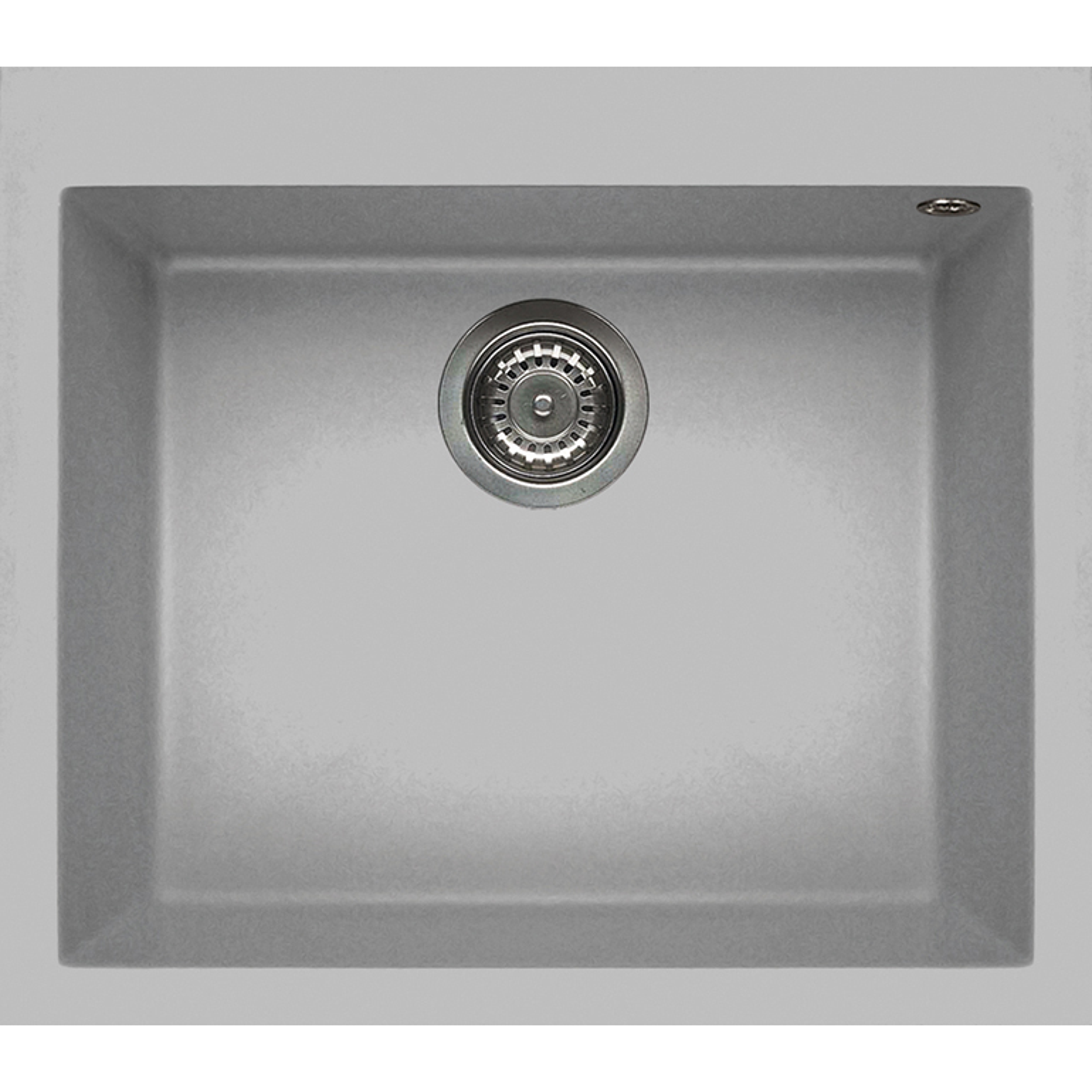 Elleci花崗岩含金屬水槽Quadra105(鋁色)