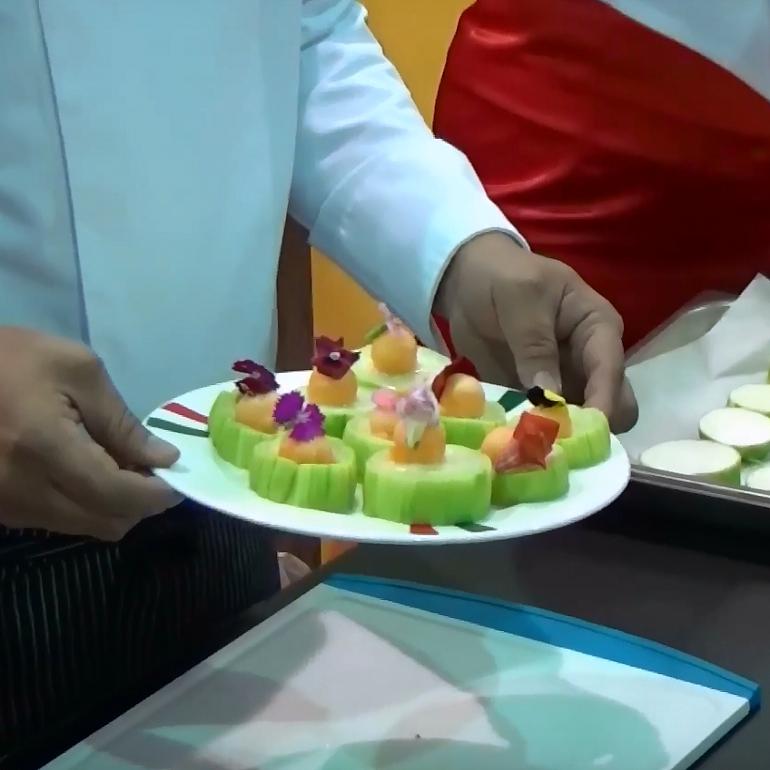 【蒸烤爐食譜影片】花果絲瓜