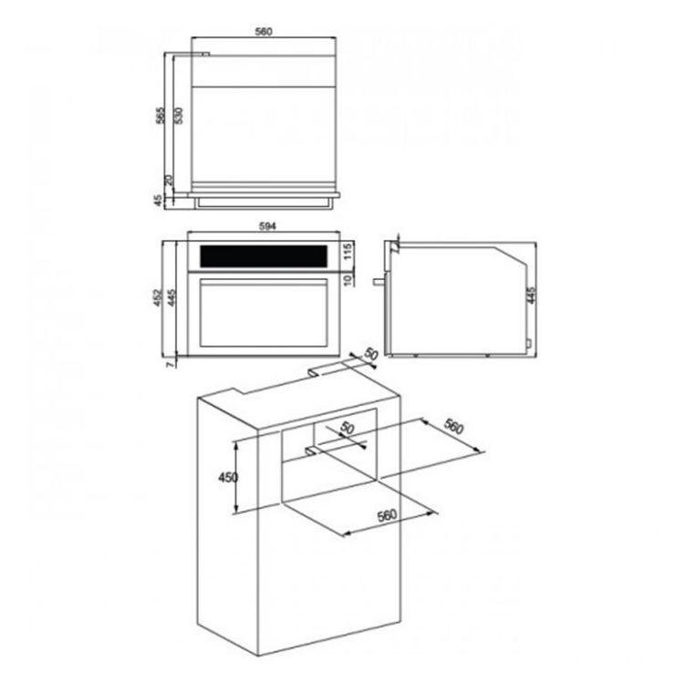 嵌入式3D旋風烤箱OV-750
