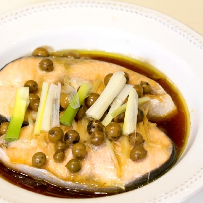 【蒸烤爐食譜】樹子蒸鮭魚&清蒸花椰菜