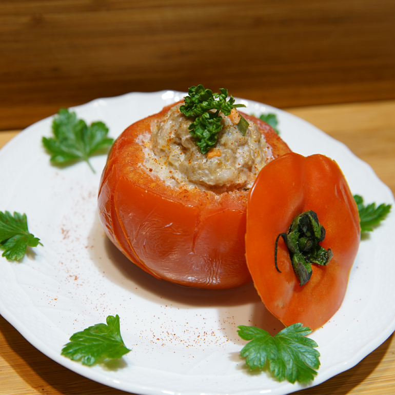【蒸烤爐食譜】清蒸番茄鑲肉