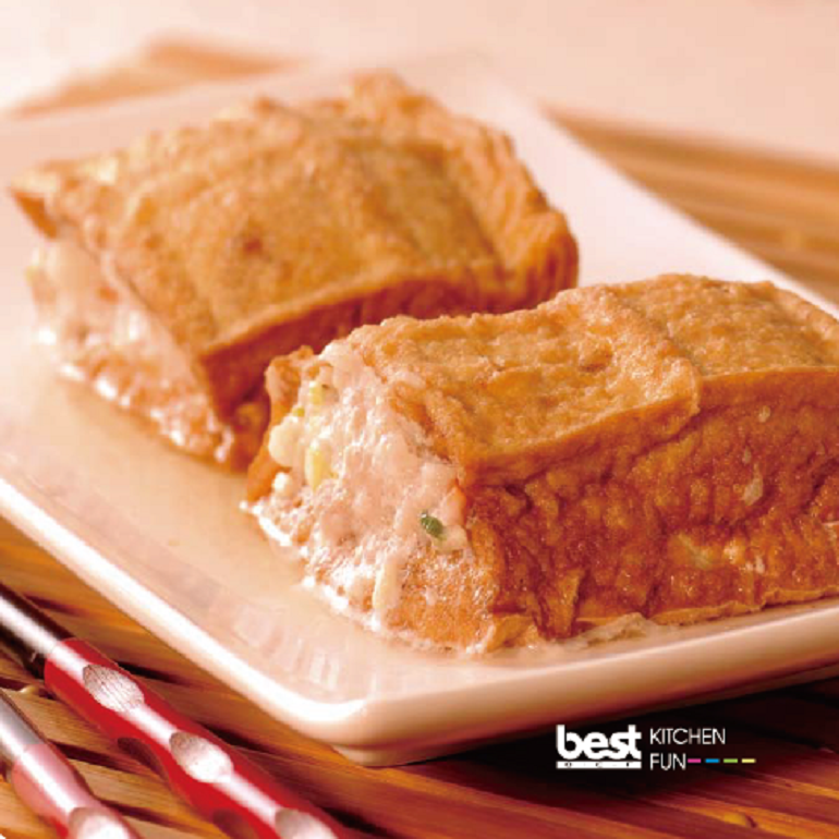 清蒸油豆腐鑲肉