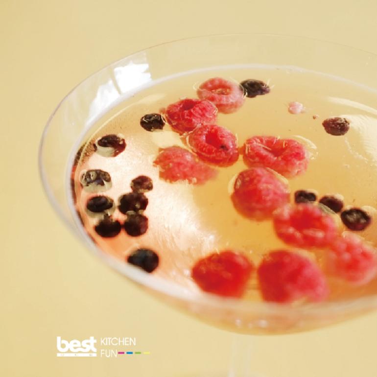 莓果香檳凍