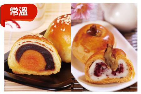 ●浪漫好月禮盒(6入豆沙蛋黃酥+6入櫻葉酥共12顆)