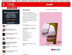 TIME雜誌- 評選博士茶是對人體健康有幫助的食物