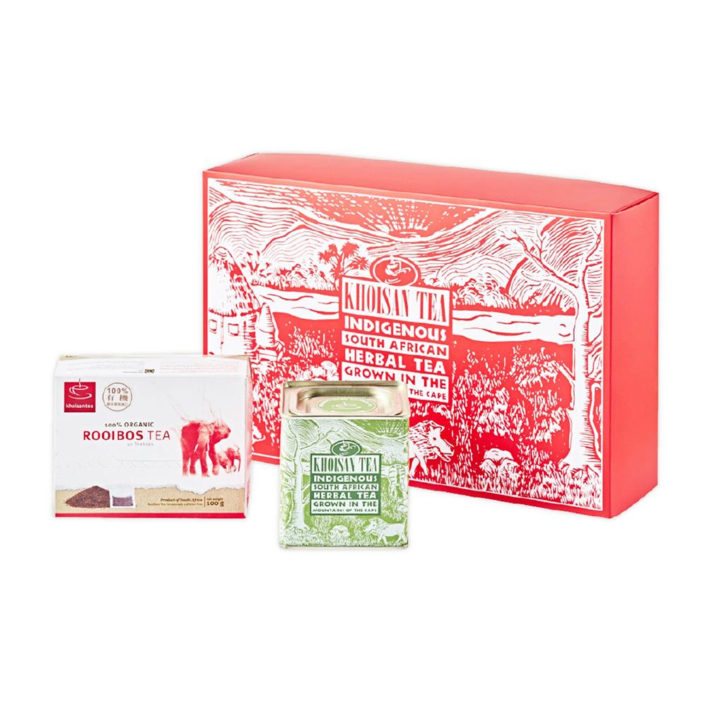 紅綠有機茶組禮盒