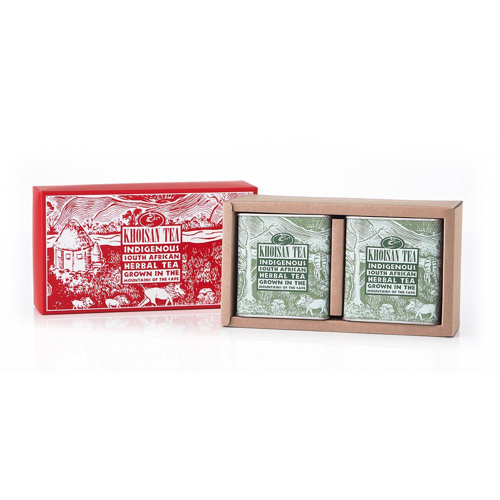 有機古典罐禮盒二入組(綠茶/綠茶)