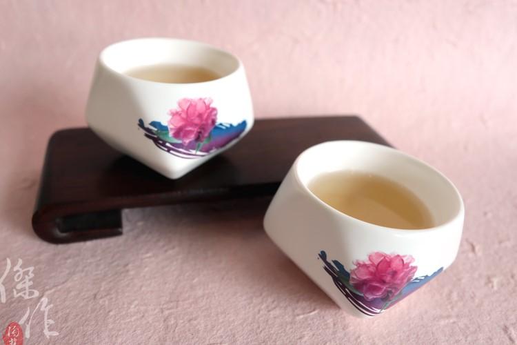 傑作陶藝-富貴平安天燈杯(二入)